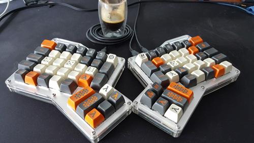 Ergodox nouveaux keycaps