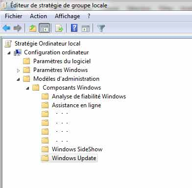 Windows reboot automatique solution étape 2 windows update