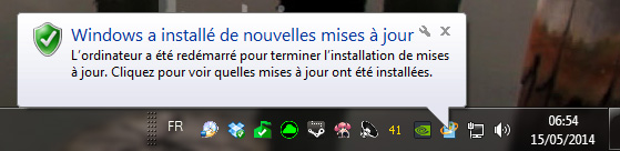 Windows update reboot automatique résultats