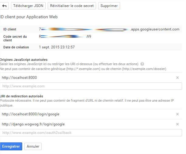 Informations gmail