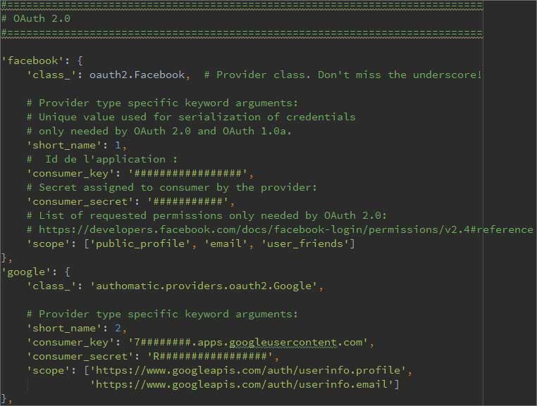 Code dans authomatic