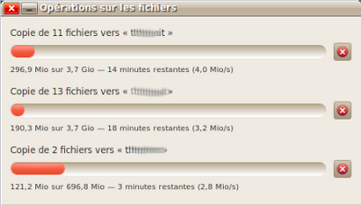 Exemple de multiple copie de fichiers sous Linux