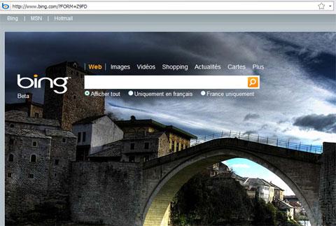 Firefox Page bing de merde imposée par défaut