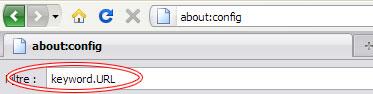 Firefox filtre keyword URL