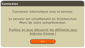 Dofus en maintenance