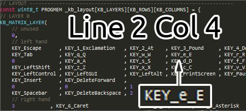 Ergodox configurator source layer 0 key e