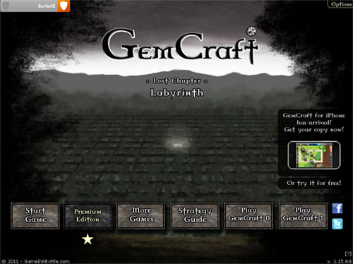 Gemcraft Labyrinth - page de présentation