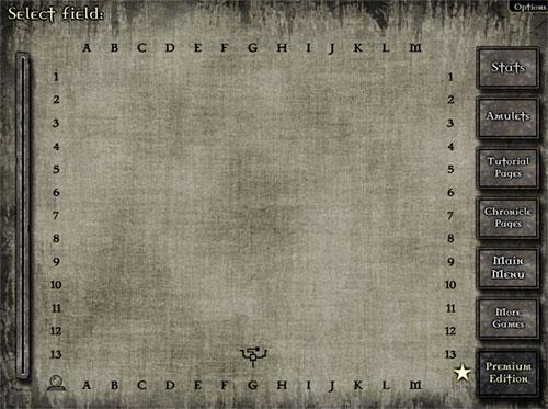 Gemcraft Labyrinth - page de la carte des labyrinthes