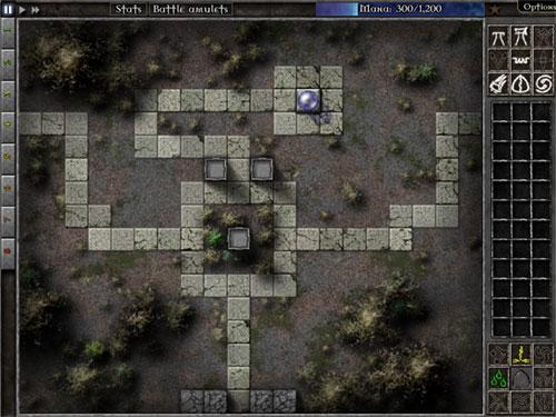 Gemcraft Labyrinth - page d'un niveau à résoudre