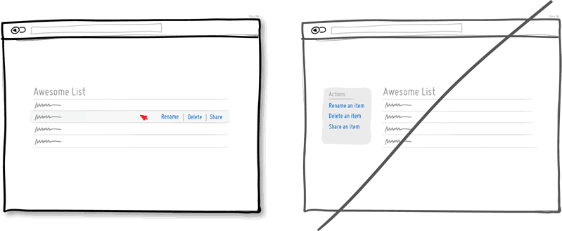 Try direct manipulation instead of contextless menus.