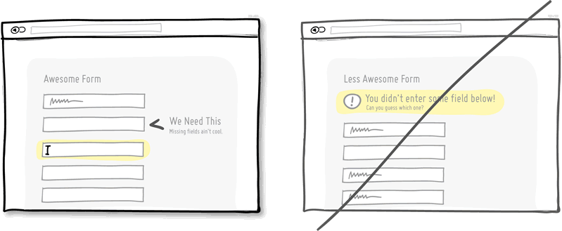 Try inline validation instead of delaying errors.