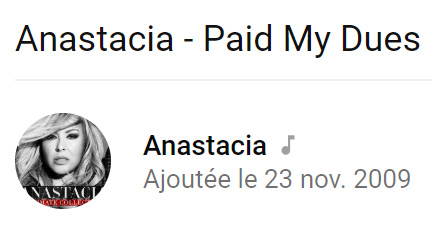 Anastacia - I paid my dues