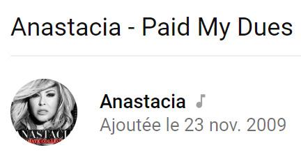 Anastacia - I paid my dues