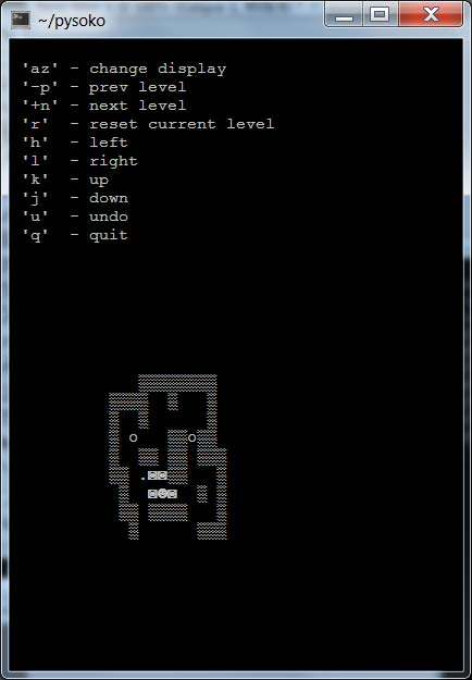 Copie d'écran de PySoko
