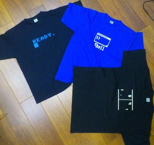 Photo de mes tshirts de geek