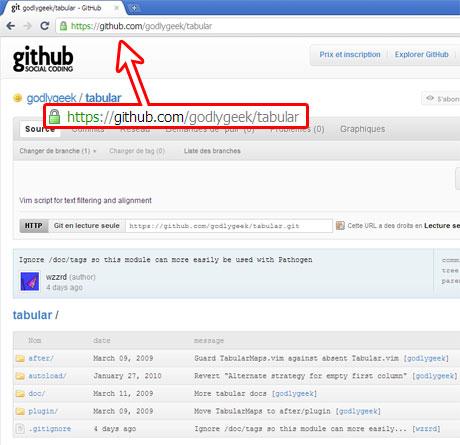 Page Internet du plugin Tabularize